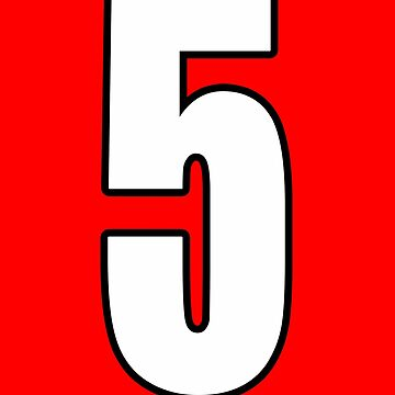 Football, Soccer, 5, Five, Fifth, Number Five, Team, Number, Red, Devils by TOMSREDBUBBLE
