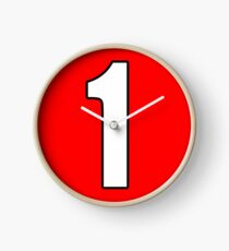 Football, Soccer, 1, One, Number One, First, Team, Number, Red, Devils Clock
