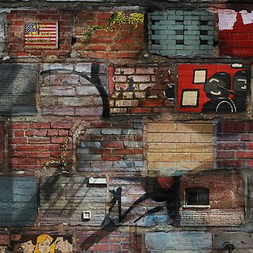 Brick Laden Graffiti by C110