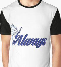 Caskett blue butterfly Graphic T-Shirt