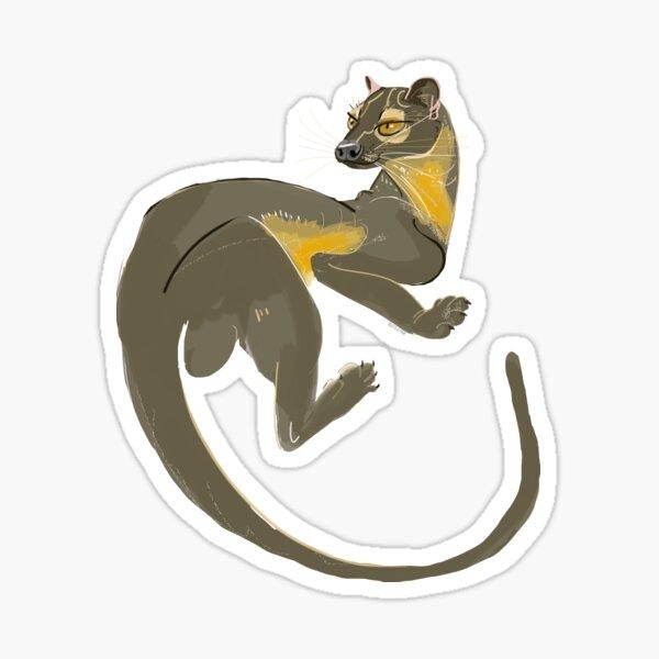 Fossa Wild Art  Sticker