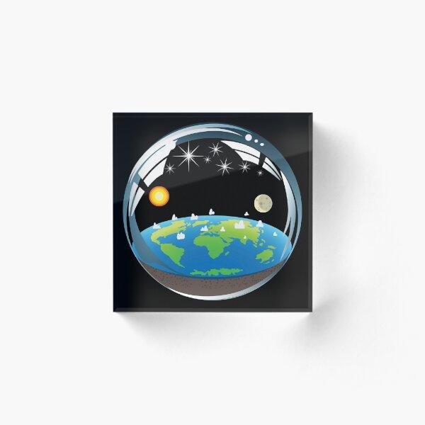 Flat Earth Bubble Acrylic Block