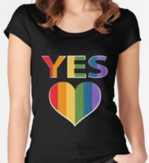 Yes to marriage equality Australia Women's Fitted Scoop T-Shirt