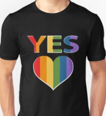 Yes to marriage equality Australia T-Shirt