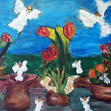 Angels in the Garden by joanofangels