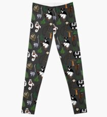 Lemur Pattern Leggings