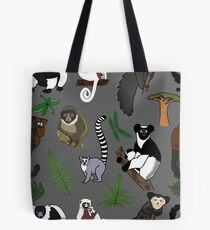 Lemur Pattern Tote Bag
