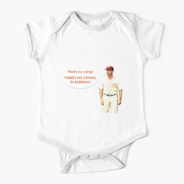 No Crying In Baseball Short Sleeve Baby One-Piece