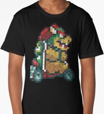 Bowser Kart Vintage Pixels Long T-Shirt