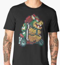 Bowser Kart Vintage Pixels Men's Premium T-Shirt