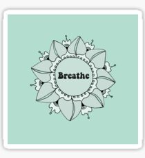 Breathe Yoga Mandala in Blue-Green Seafoam Sticker