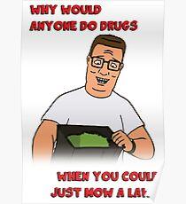 Hank's Take on Drugs Poster