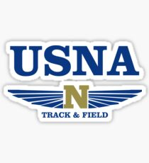 USNA - Track and Field Sticker