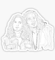 chris and eddie Sticker