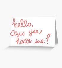 Adele Hello Greeting Card