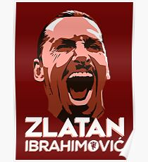 Zlatan The Red Poster