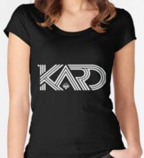 KARD WHITE Women's Fitted Scoop T-Shirt