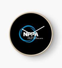 NEW NPPA SHUTTER SWIRL LOGO Clock