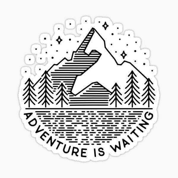 Adventure is waiting Sticker
