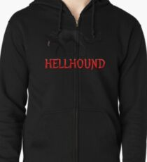 Hellhound Black Dog of the Night Zipped Hoodie