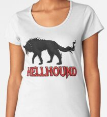 Hellhound Black Dog of the Night Women's Premium T-Shirt