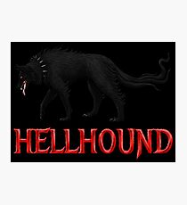 Hellhound Black Dog of the Night Photographic Print