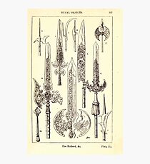 A Handbook Of Ornament With Three Hundred Plates Franz Sales Meyer 1896 0413 Metal Objects Halberd Photographic Print