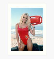 Pamela Anderson Baywatch Kunstdruck