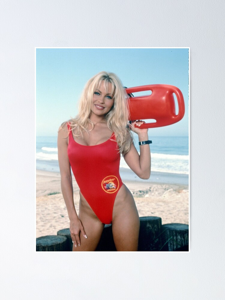 Alternate view of Pamela Anderson Baywatch Poster