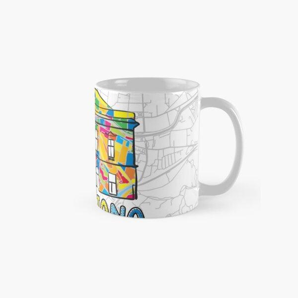 Ljubljana, Slovenia, Colorful Map Sign Classic Mug