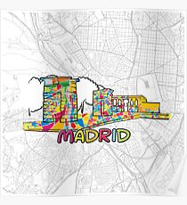 Madrid Map Posters   Redbubble