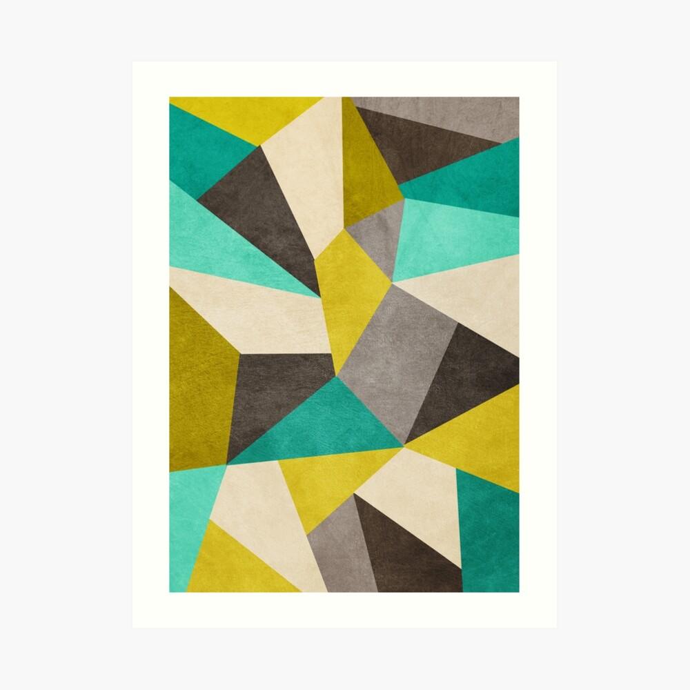 Polygone Kunstdruck