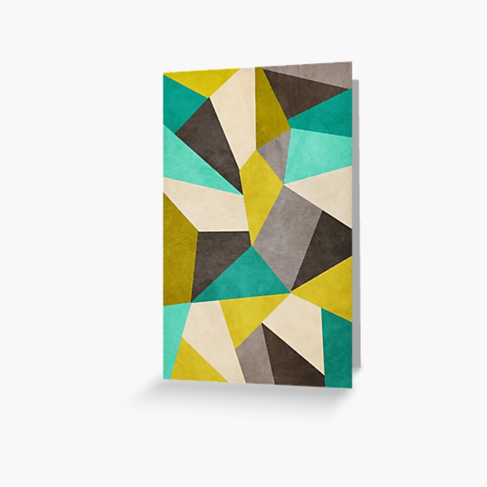 Polygons Greeting Card