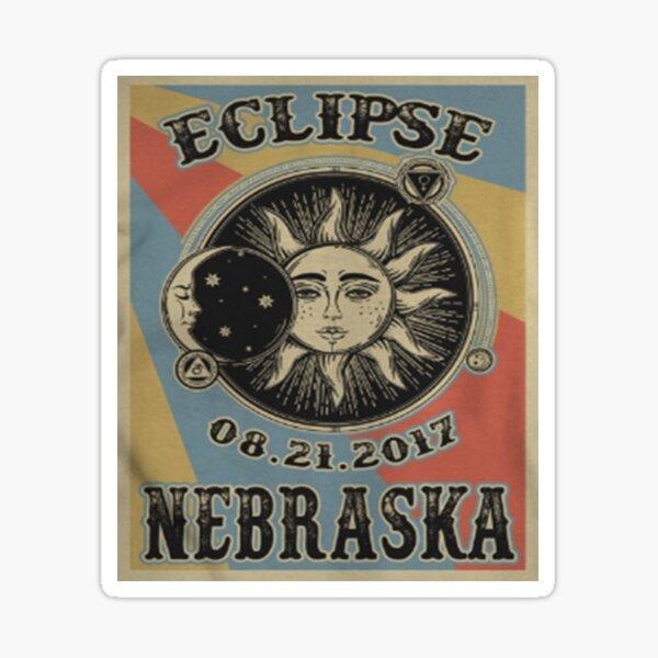 VINTAGE NEBRASKA SOLAR ECLIPSE 2017 SHIRT Sticker