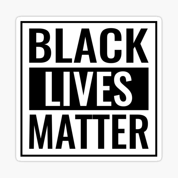 Black Lives Matter T Shirt Sticker