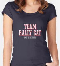 St. Louis Baseball Team Rally Cat Kitten  Women's Fitted Scoop T-Shirt