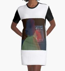 I Hope That You Burn Graphic T-Shirt Dress