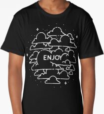 Clouds illustration - Enjoy! Long T-Shirt