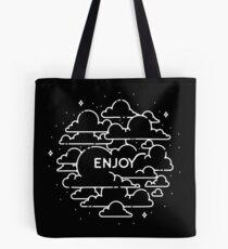 Clouds illustration - Enjoy! Tote Bag