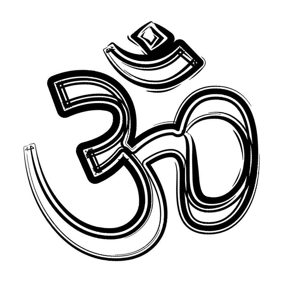 Om Symbol In Black And White By Korryna Benneth Redbubble