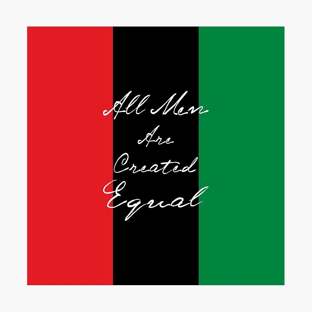Alle Männer sind gleich Afro-Flagge Fotodruck