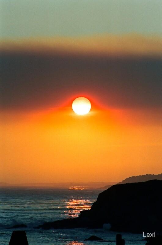 Smokey Big Sur Sunset by Lexi
