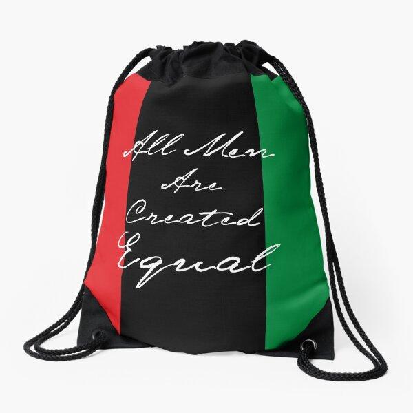 All Men Are Equal Afro Flag Drawstring Bag