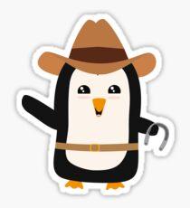 Cowboy Penguin Wild West Rb0s6 Sticker