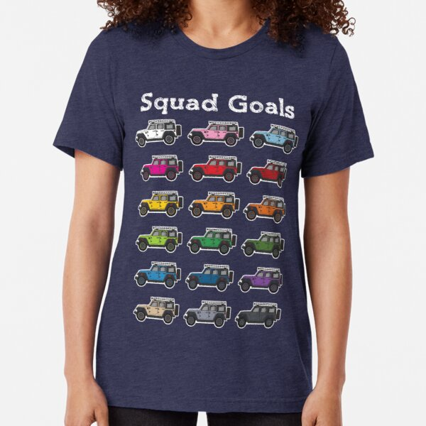 Jeep Wrangler Squad Goals Tri-blend T-Shirt