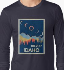 VINTAGE IDAHO SOLAR ECLIPSE 2017 SHIRT Long Sleeve T-Shirt
