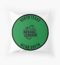 University of North Texas - Mean Green Throw Pillow