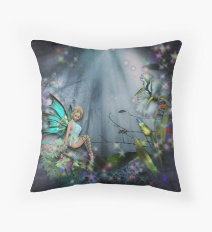 MOON RAYS AND MAGIC Throw Pillow