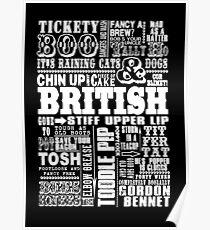 British Sayings Print Poster
