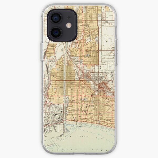 Vintage Map of Long Beach California (1949) 2 iPhone Soft Case